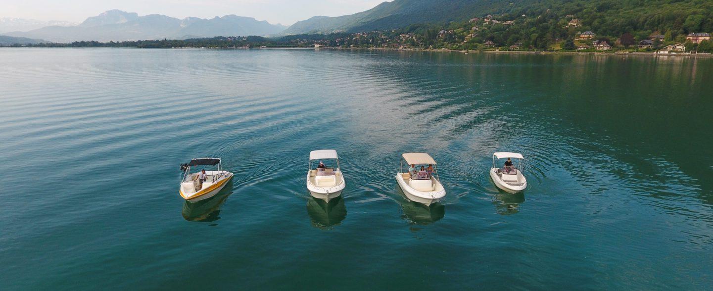 Bateaux de location sur le lac du bourget