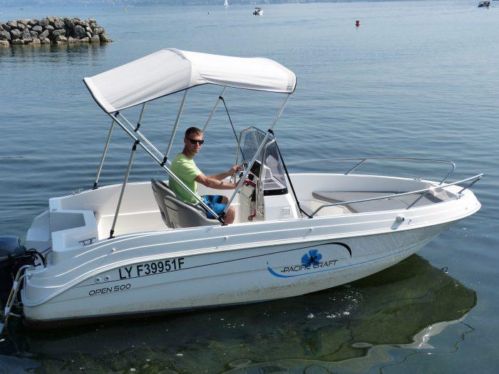 Location bateau sans permis - lac du Bourget